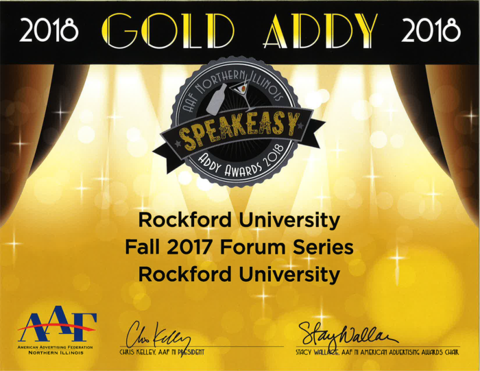 Gold Award--Fall 2017 Forum Series